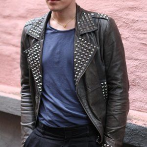 Matthew Williamson for H&M Leather Moto Jacket 40R